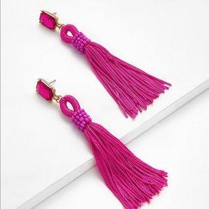 Jewelry - Pink tassel drop earrings